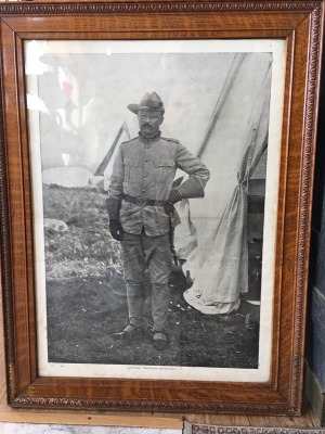 Framed Photo of Teddy Roosevelt